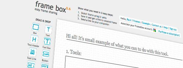 Frame Box – comparte tus bocetos online de manera rápida