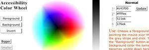 Rueda de color interactiva.