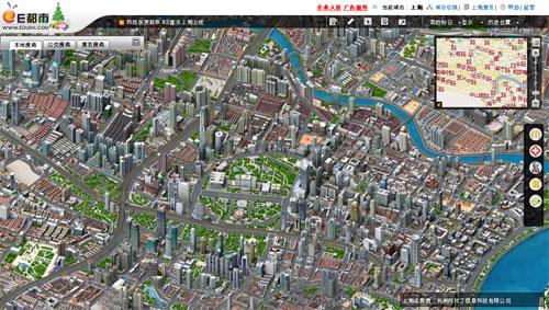 """Ciudades en pixel-art con vista tipo """"google maps"""""""