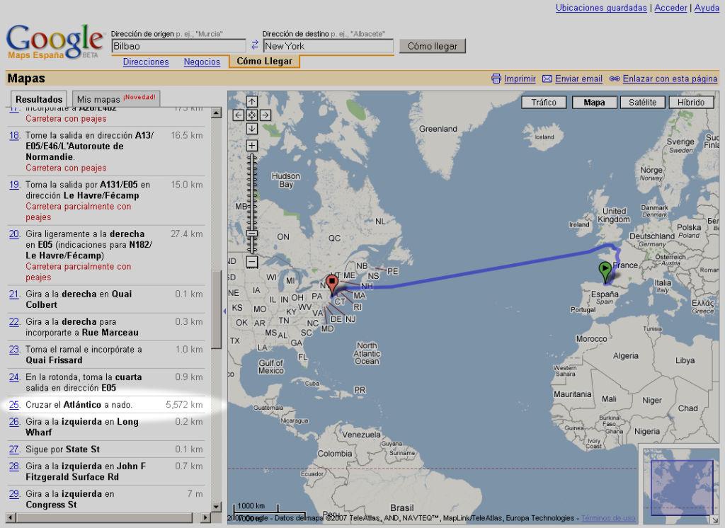 ¿Como viajan los vascos desde Bilbao a New York?