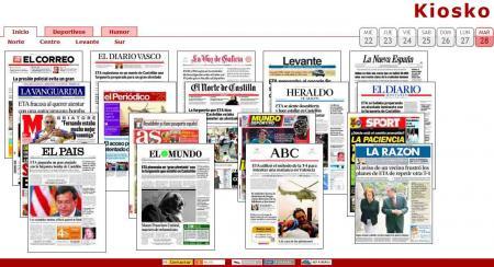 Los periodicos de hoy.