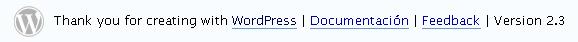 Actualizado a 2.3 de WordPress