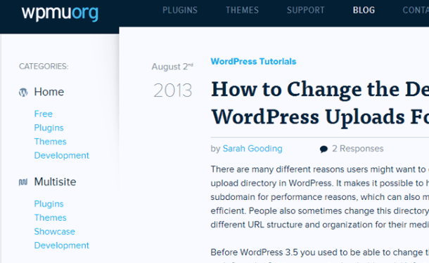 wpmu org homepage 2013 website wordpress resources
