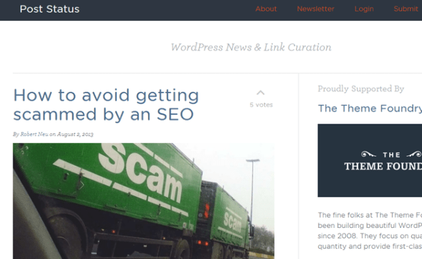 post status wordpress news updates blog