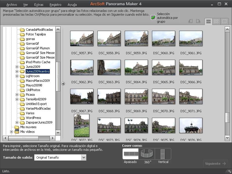 Pantalla Principal Panorama Maker 4