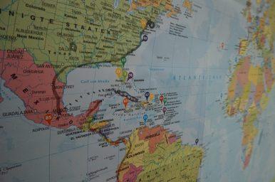 Teil unserer Route in Mittelamerika