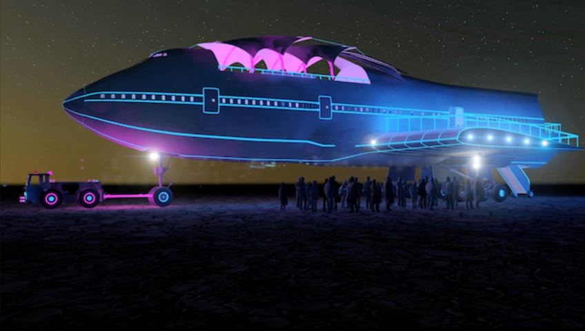 Look Inside Burning Man S Boeing 747 Nightclub Video