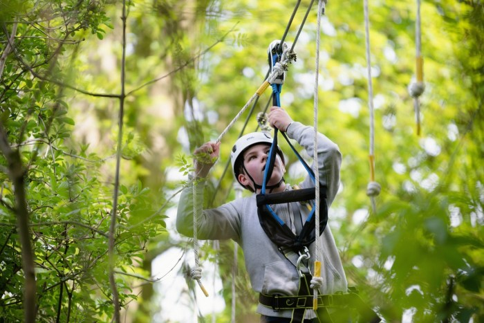 Swinging ropes