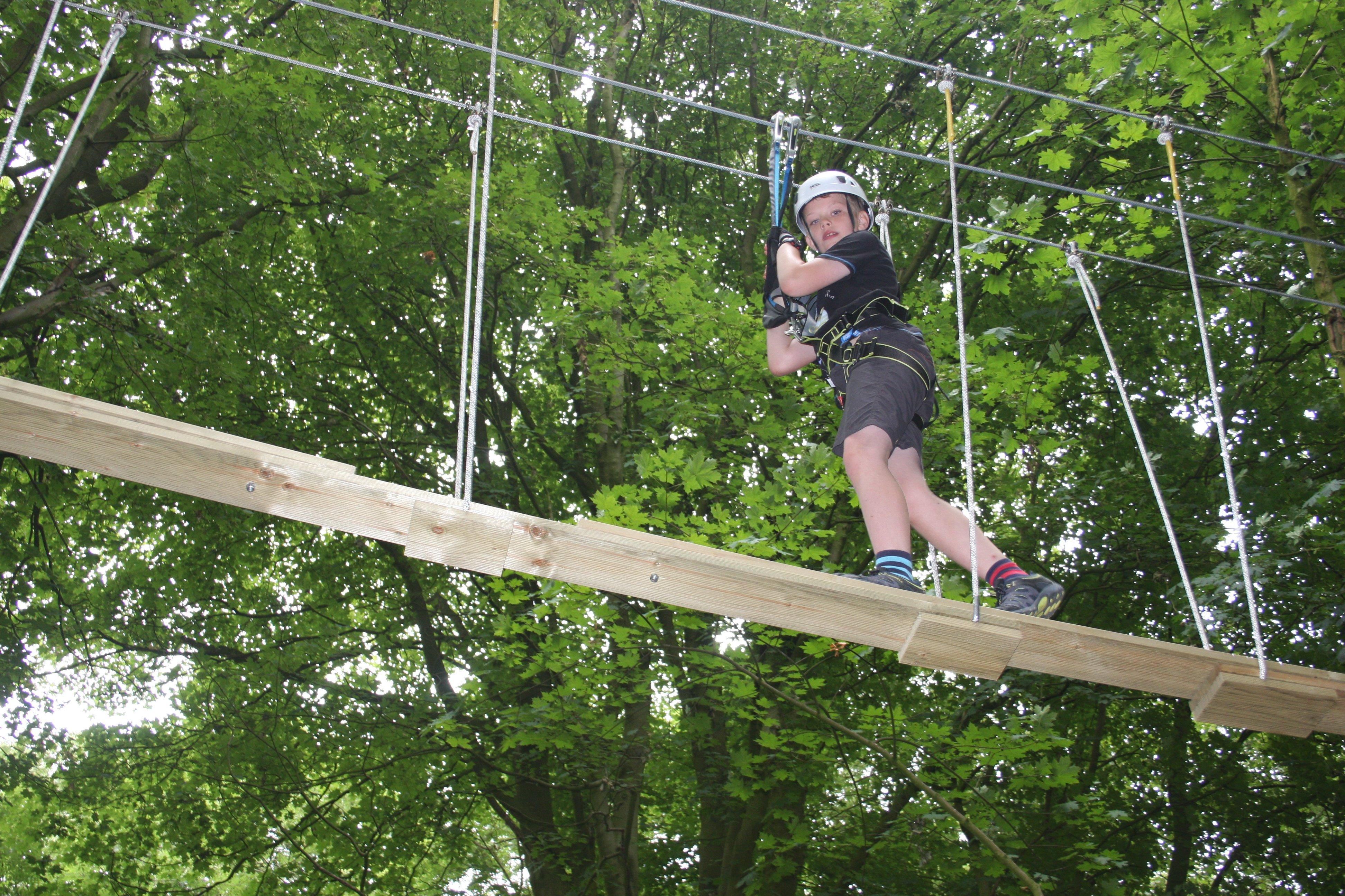Raven Tree Top Adventure plank bridge