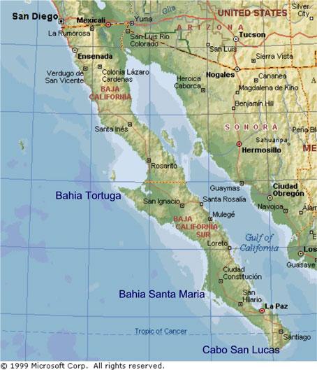 Baja Peninsula Map Expat In Baja Mexico