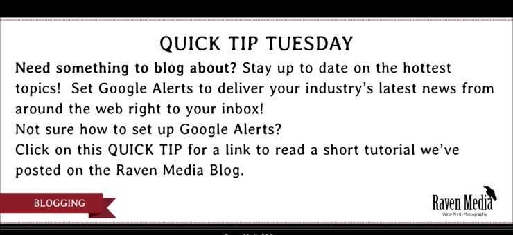 Quick Tip Tuesday: Set Up Google Alerts