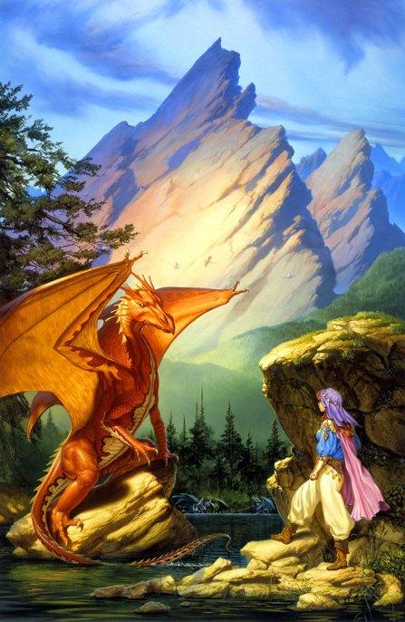 Book Cover Throwback Dragonlake by Michael Whelan