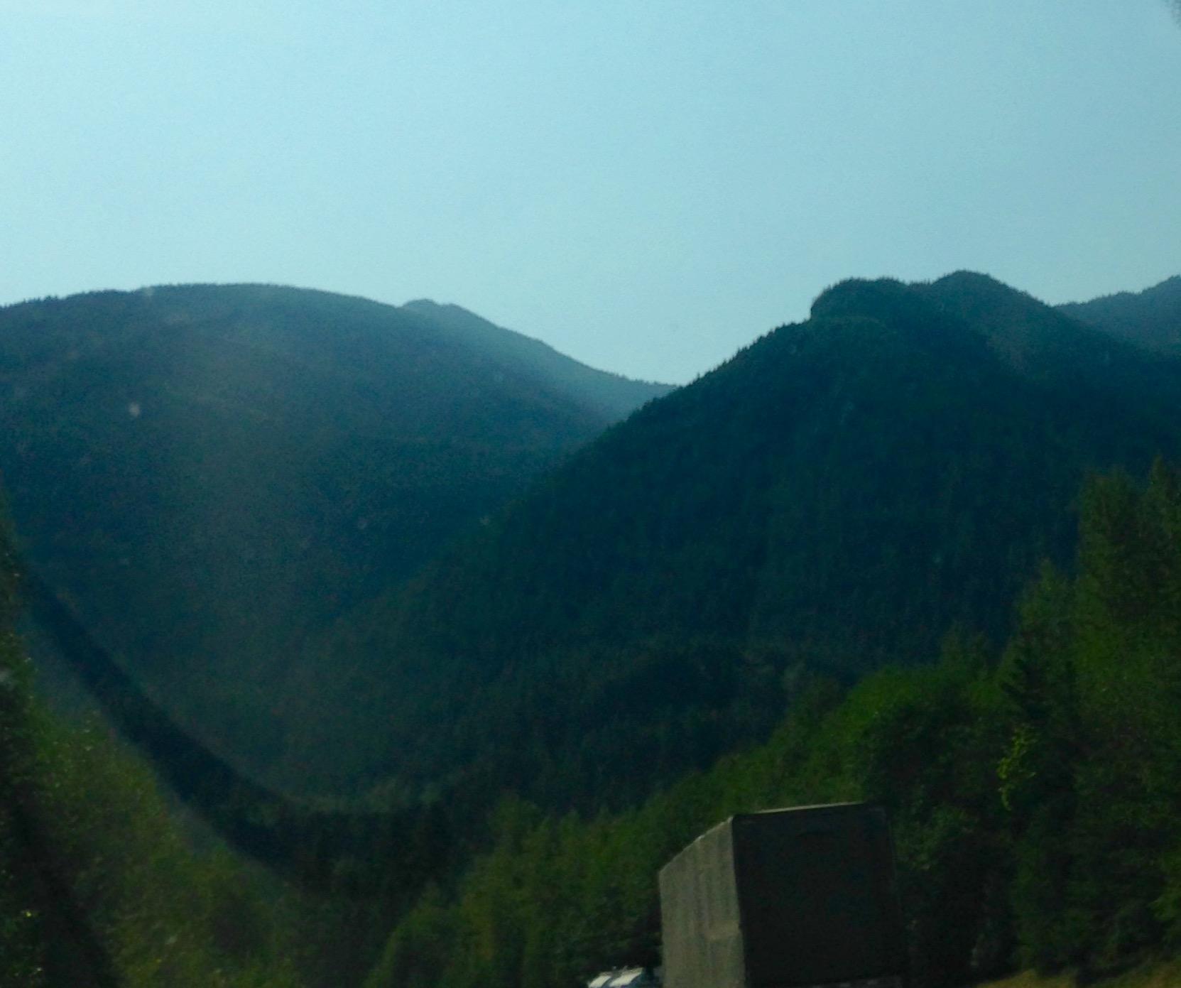 Drive to Spokane Mountainy Hills