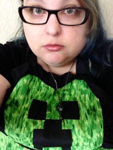 Me cosplaying as a creeper