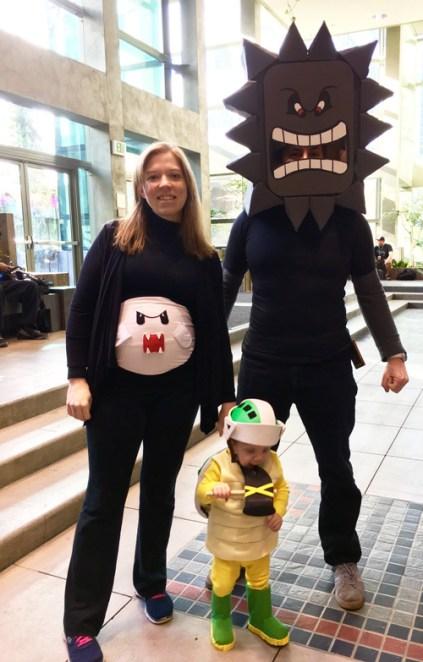 Mario cosplay family