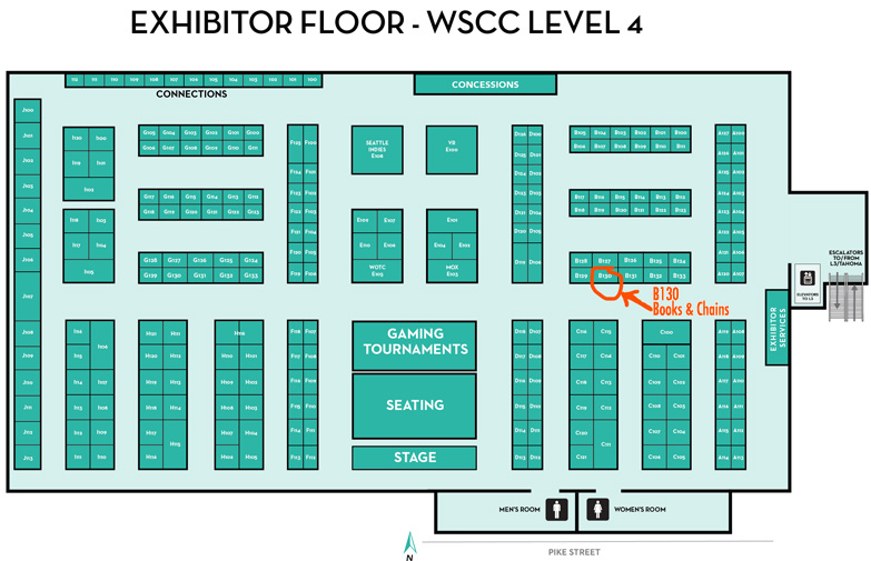 GeekGirlCon Vendor Map