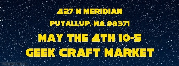 Geek Craft Market Sign