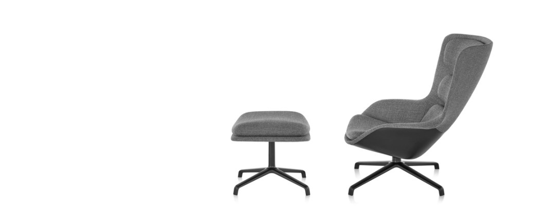 Striad Lounge Chair & Ottoman