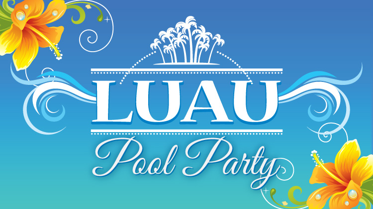 Luau-Themed Pool Party & DJ Fun