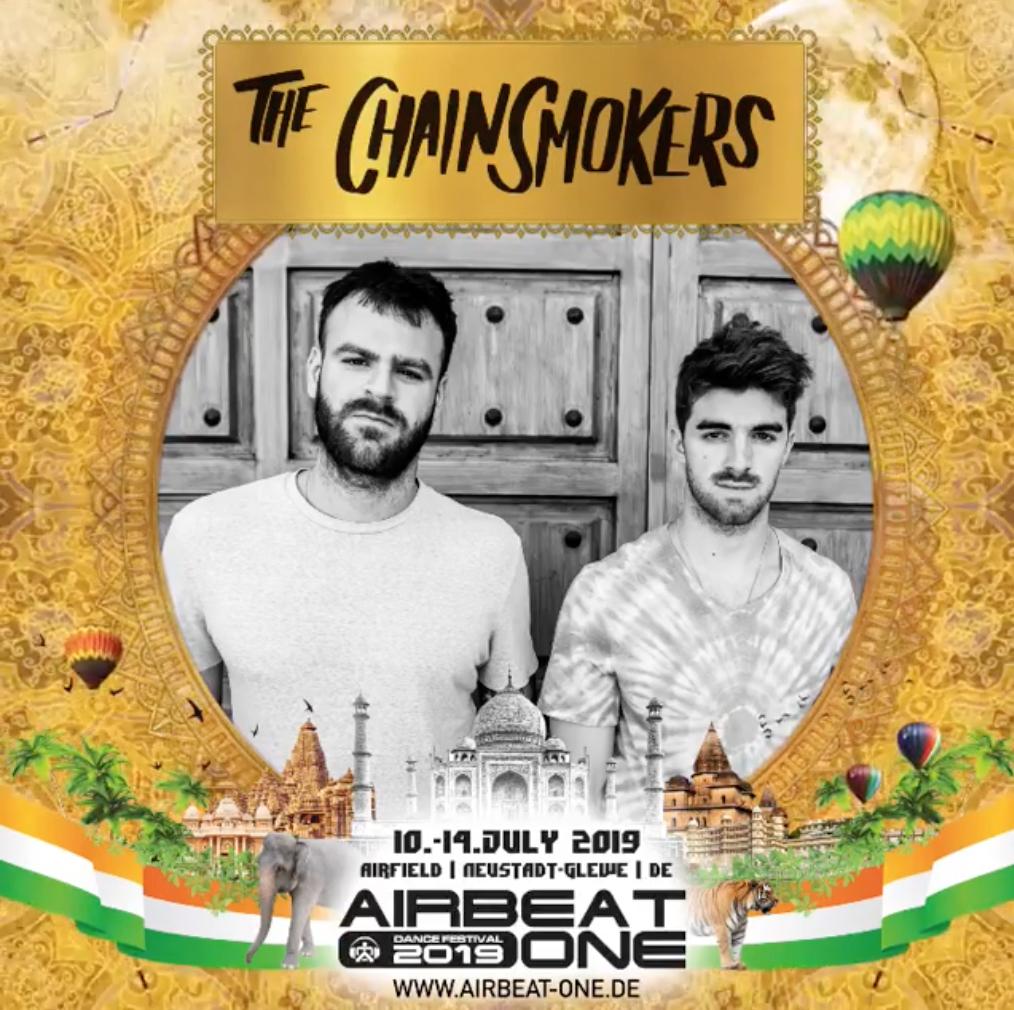 The Chainsmokers erstmalig beim Airbeat-One 2019