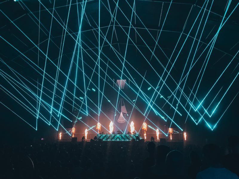 Laser beim Rampage Open Air