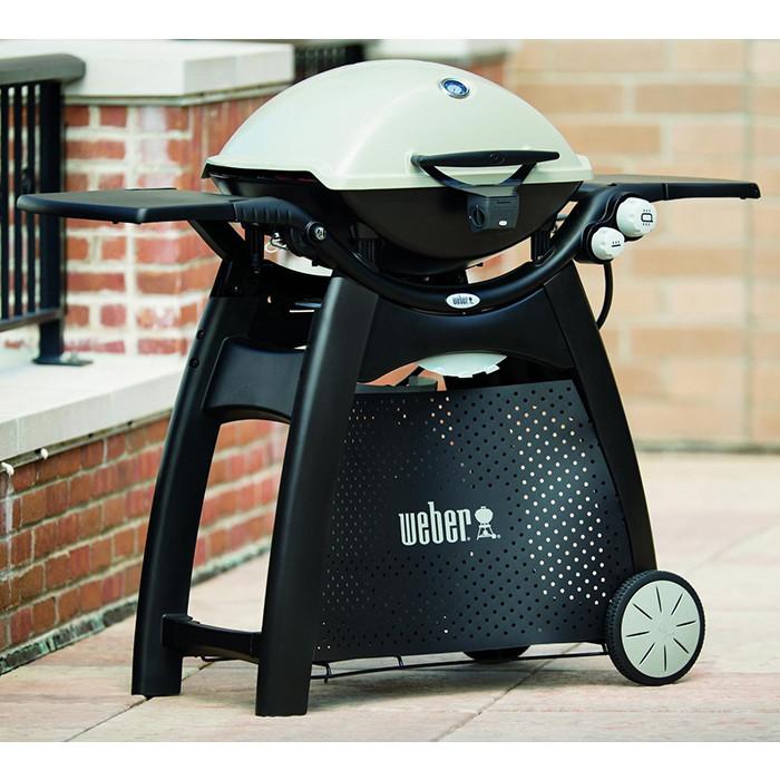 Barbecue Gaz Weber Q 3000 Titanium Sur Chariot Roulettes
