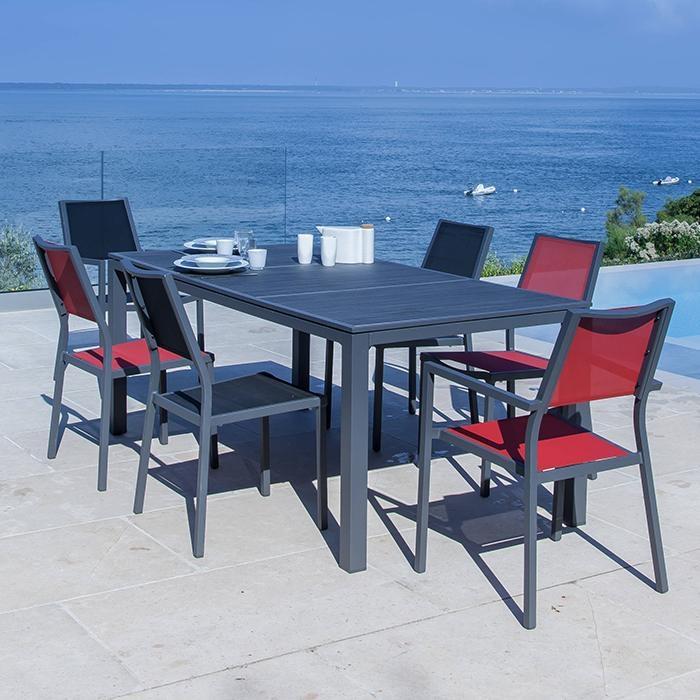 chaise de jardin en aluminium alize