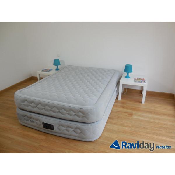 Matelas Lit Gonflable Intex Supreme Bed Fiber Tech 2 Places