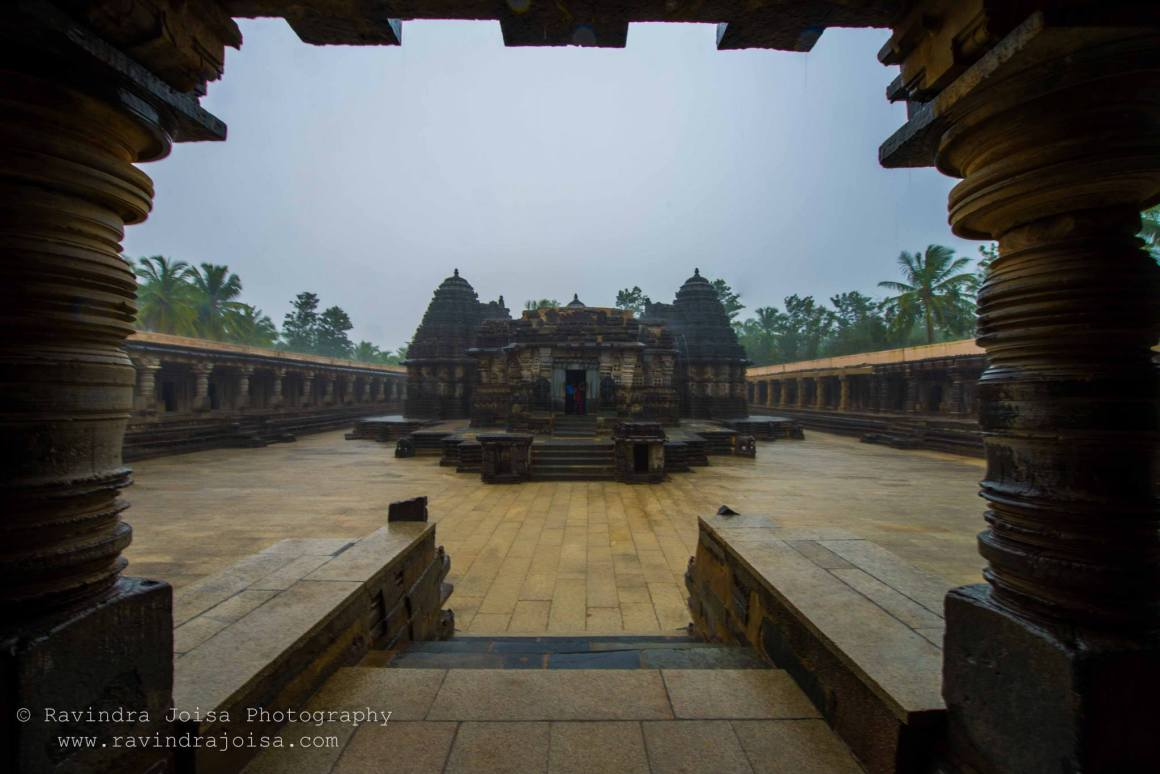temple framing and composition