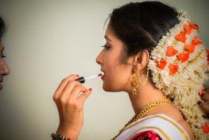 Candid Indian Wedding - bride - bride makeup