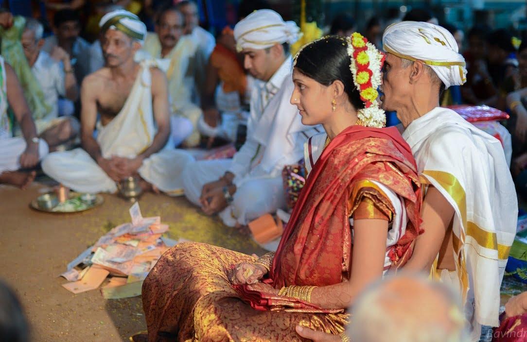 Candid Indian Wedding - sitting on dad's lap