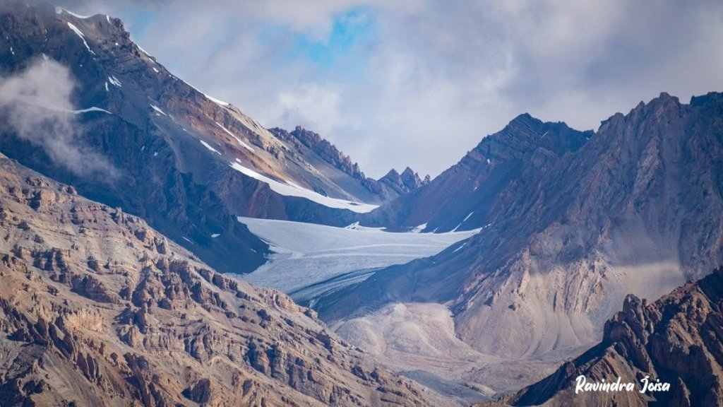 Glacier as viewed from Mount Kanamo basecamp