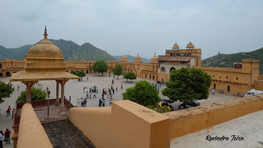 Courtyard at Jaipur Amer fort or Amber Palace