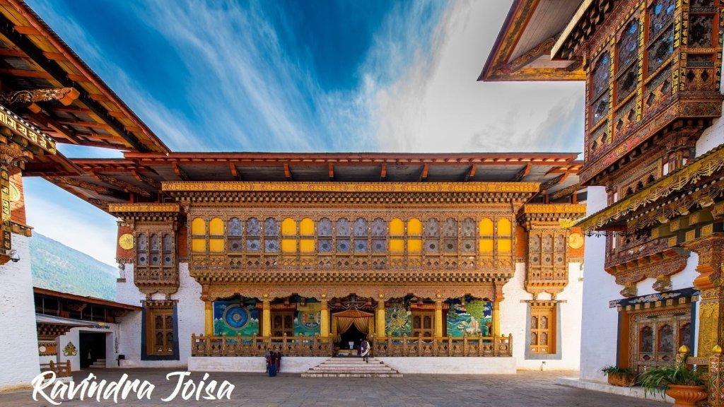 Inner Courtyard of Punakha Dzong