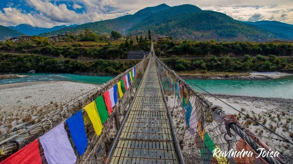 Punakha Suspension bridge in Bhutan