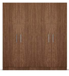 Wardrobe Stores Near Me   4 Doors Wardrobe in Viking Teak Finish         four door wardrobe in viking teak finish in ply by primorati four door  wardrobe