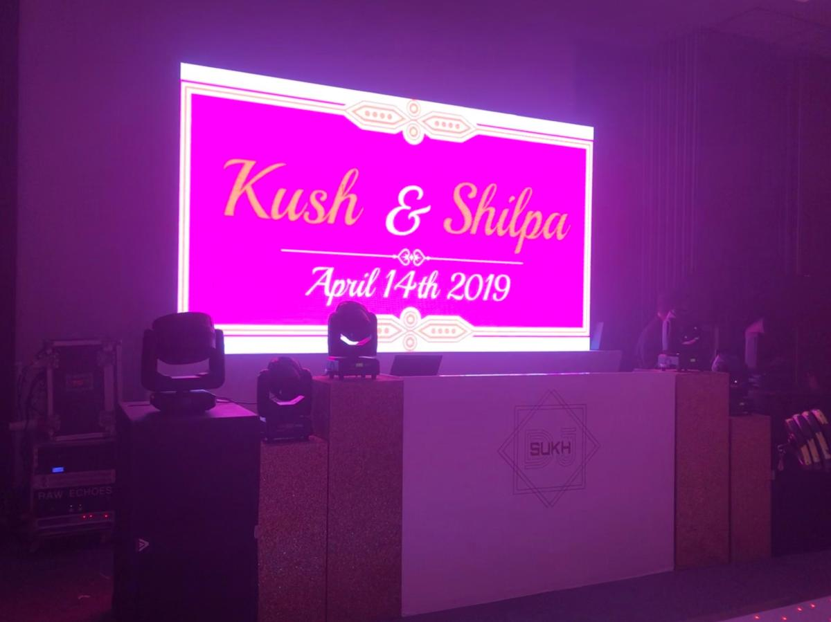 Led Screen Hire Hilton HOTEL SYON PARK Indian wedding