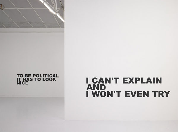 No Programme, No context, no system, no explanation, no content, no nothing