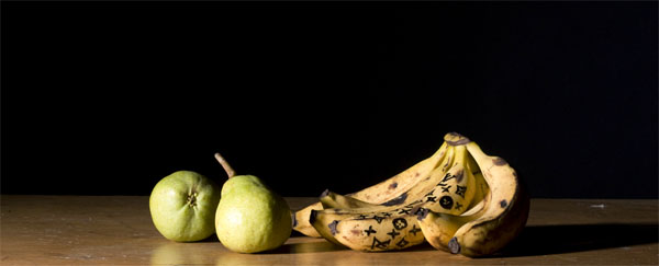 Still life with Louis Vuitton Bananas (in Baroque style)