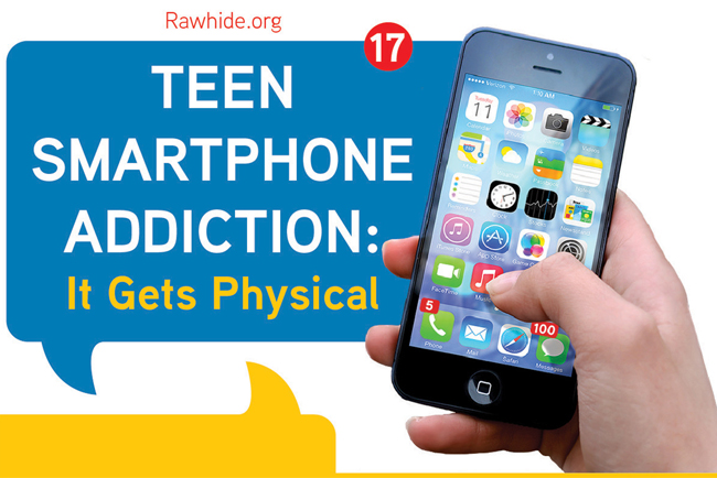 Teen Smartphone Addiction It S Physical Infographic Rawhide