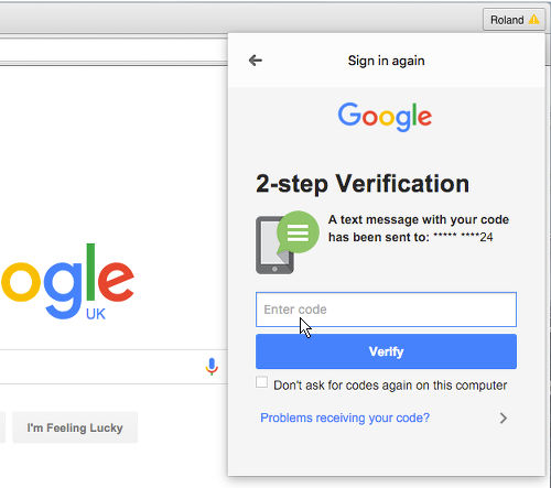 Use Google two-factor authentication on the Apple Mac | RAW Mac