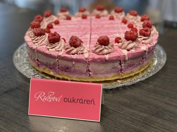 RAW torta pončová Nitra. Ružová cukráreň
