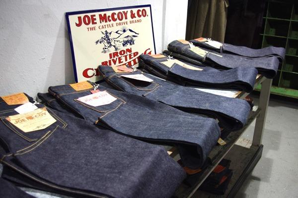 Lineup of Joe McCoy & Co. and Toy McCoy Denim