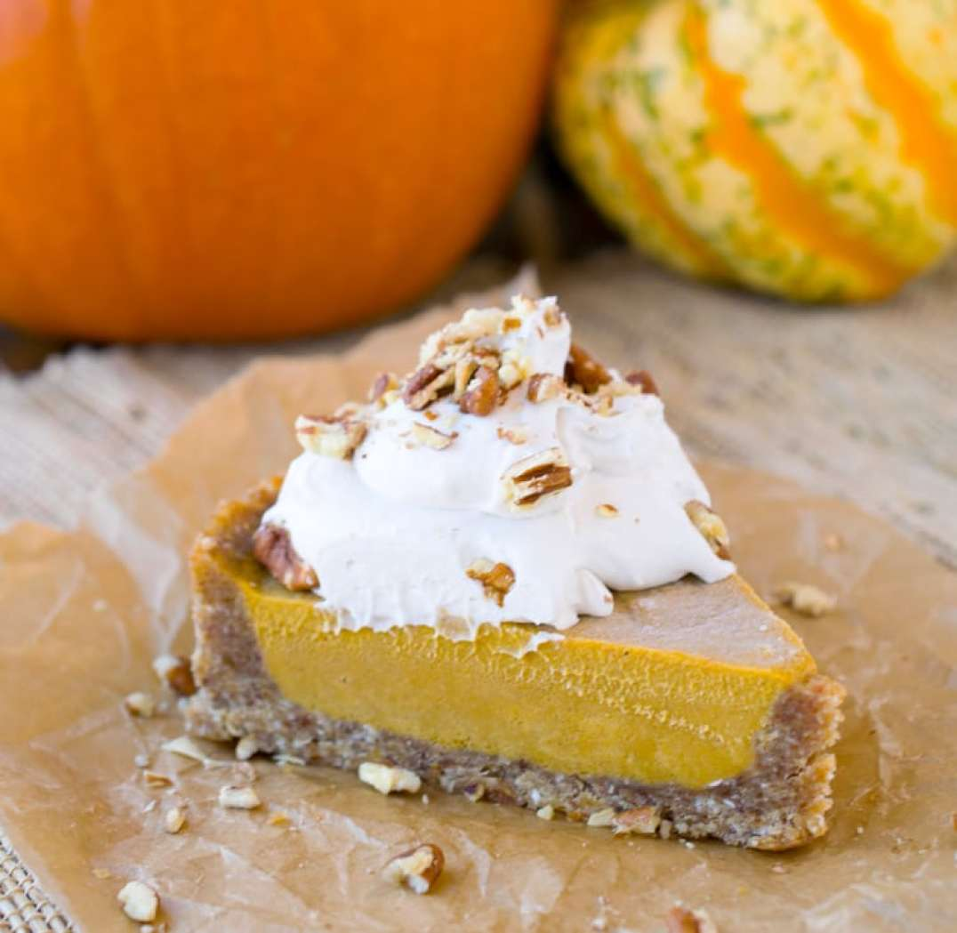 raw vegan pumpkin pie