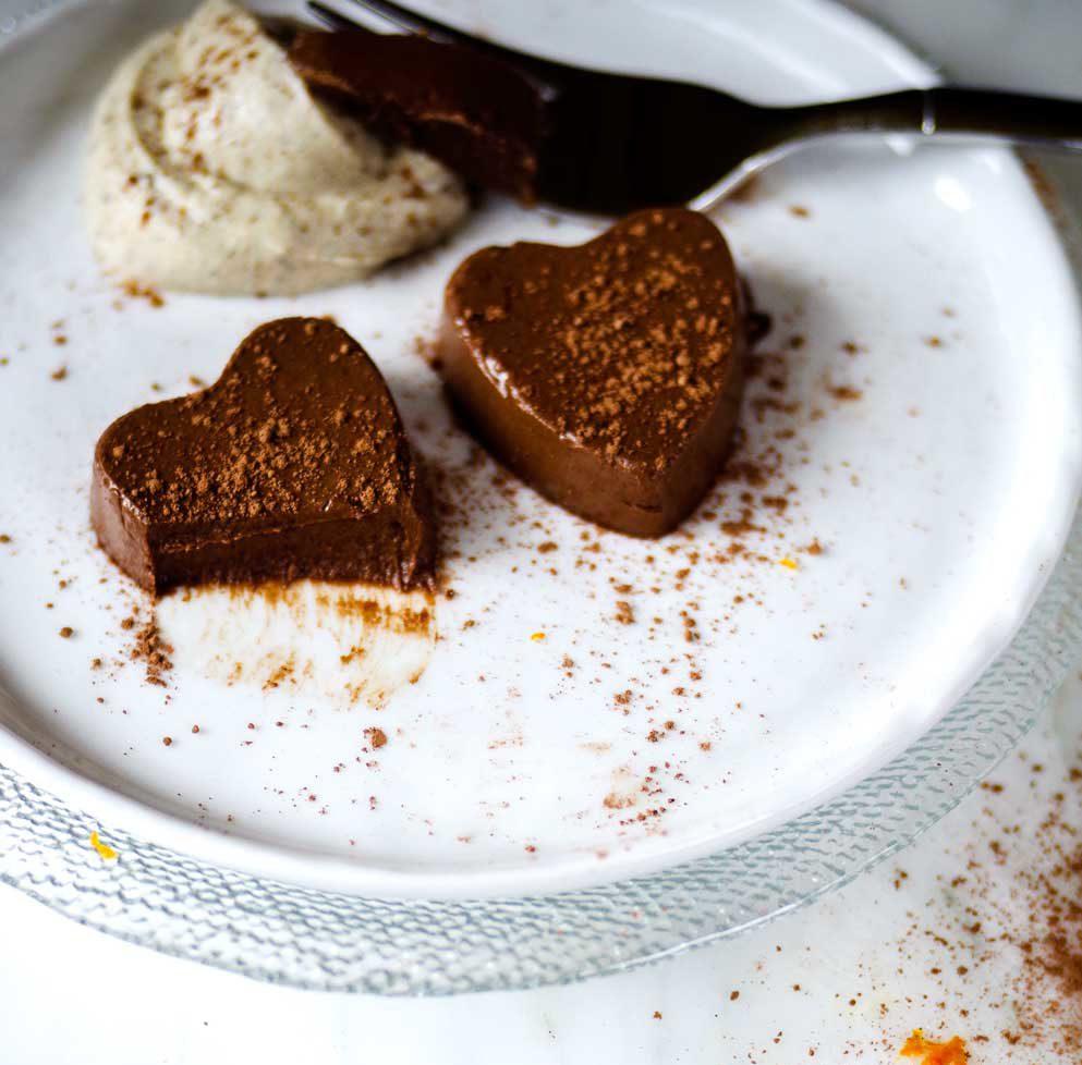 chocolate orange semifreddo
