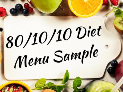 One day raw vegan 80/10/10 diet menu plan sample