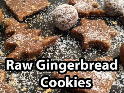 Vegan Gingerbread Cookies Recipe - Raw Food & Gluten Free