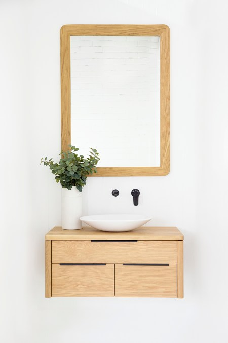 North Shore Timber bathroom Vanity made to order by RAW Sunshine Coast