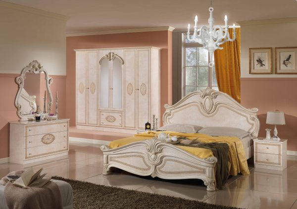 amalfi 6 doors italian bedroom set