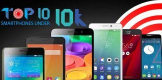 top 10 smartphones under Rs. 10,000